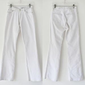 Cache White Denim Skinny Jeans Size 0 Embellished